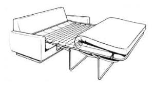 隱藏式油壓床組/沙發床